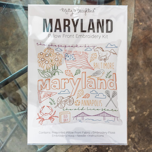 Metz & Daughters Maryland Pillow Front Embroidery Kit