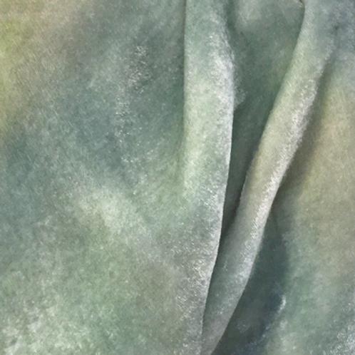 Neutral Hand Dyed Silk Velvet