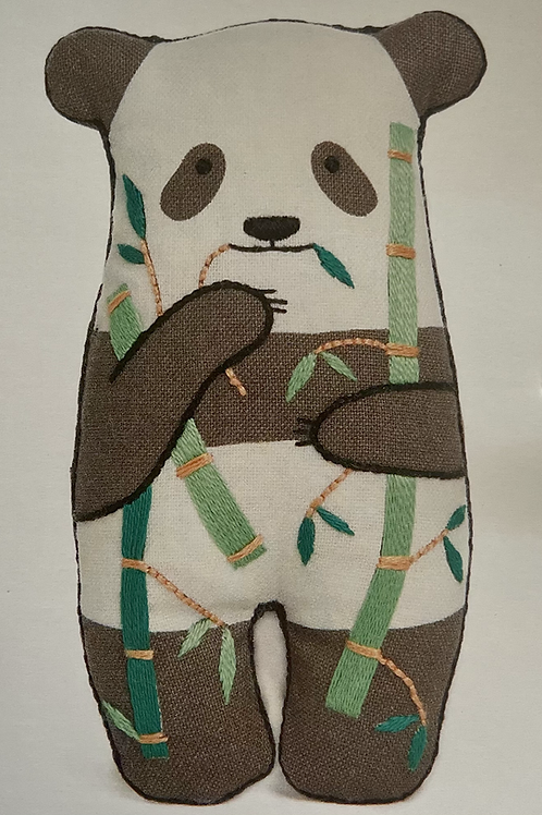 Panda D.I.Y Embroidered Doll Kit