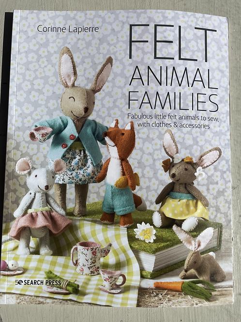 Felt Animal Families Book