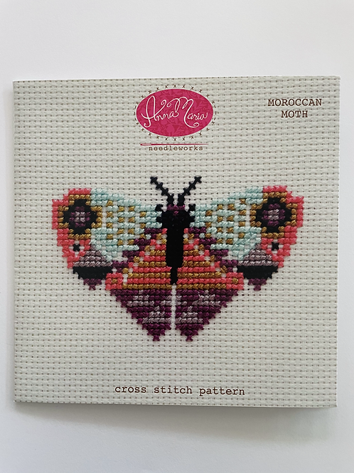 Moroccan Moth Cross Stitch Pattern