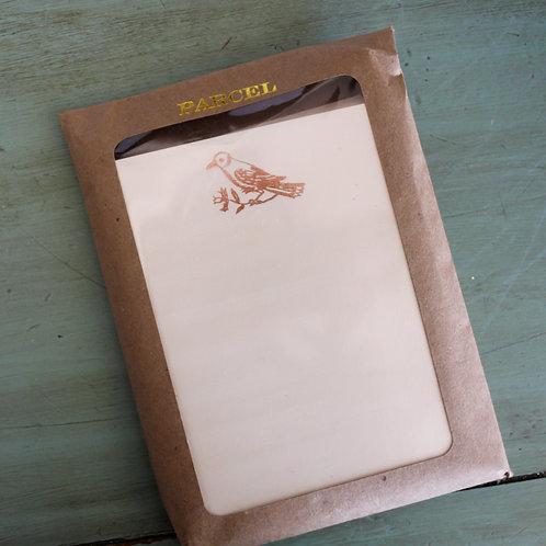 Parcel Set of 10 Letterpress Flat Notecards and Envelopes