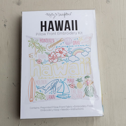 Metz & Daughters Hawaii Pillow Front Embroidery Kit