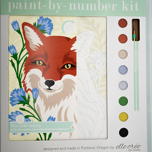 Fox with Chicory Paint by Number