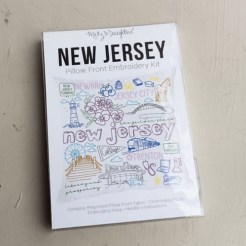 Metz & Daughters New Jersey Pillow Front Embroidery Kit