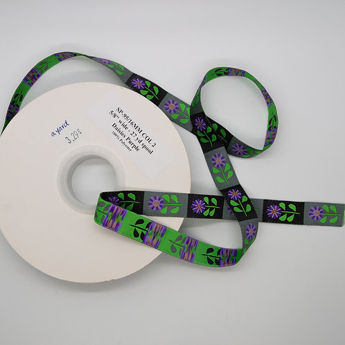 Daisies Purple Ribbon