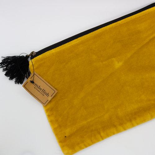 Velvet Pouch with Tassel Large