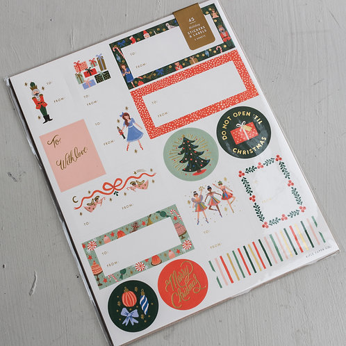 Holiday Nutcracker Stickers & Labels
