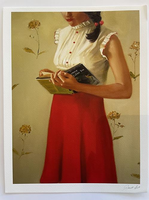 "A Mystery Lady Print 8.5"" x 11"""