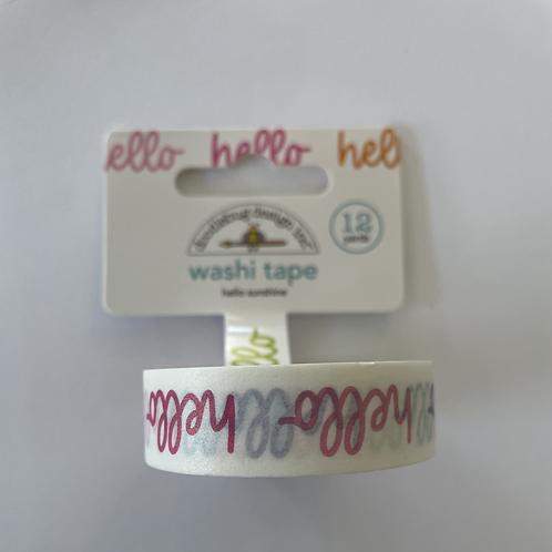 """""""Hello"""" Washi Tape- Cute&Crafty"""