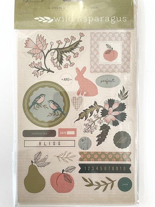 Wild Asparagus Sticker Sheets