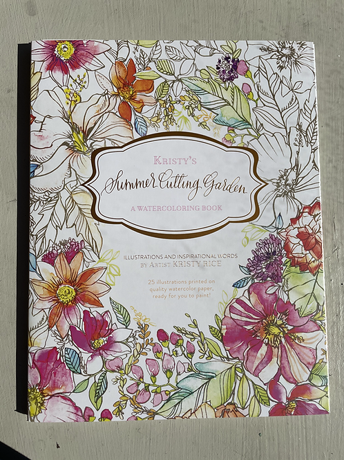 Summer's Cutting Garden Watercoloring Book
