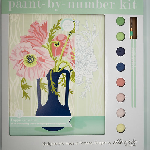 Poppies in Vase Paint by Number