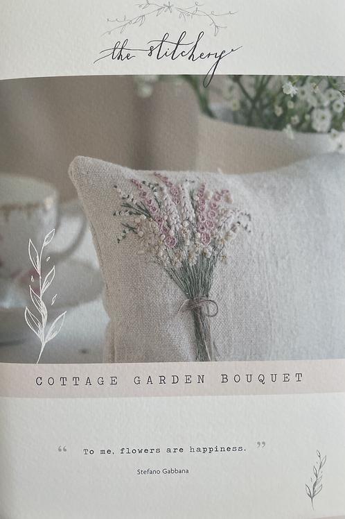 "Stitchery Lane ""Cottage Garden Bouquet"" embroidery kit"