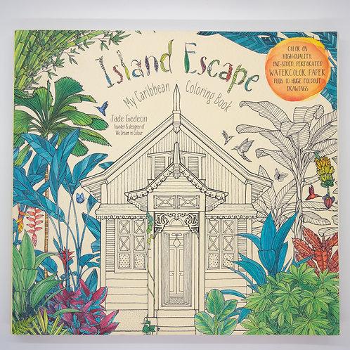 Island Escape Watercolor Coloring Book