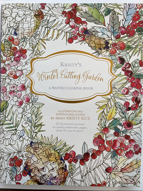 Winter Cutting Garden Watercoloring Book