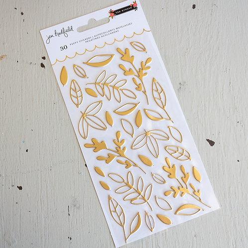 Jen Hadfield Puffy Leaf Stickers