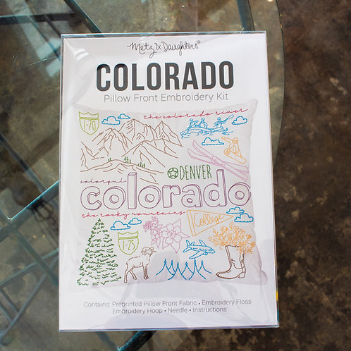 Metz & Daughters Colorado Pillow Front Embroidery