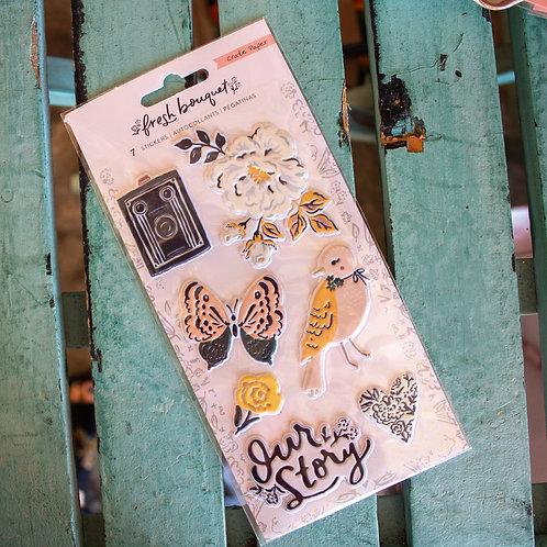 Fresh Bouquet Puffy Stickers