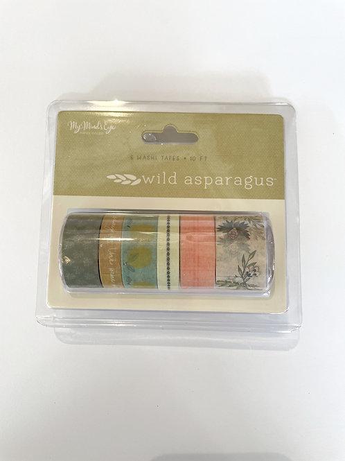 Wild Asparagus Washi Tape set of 6