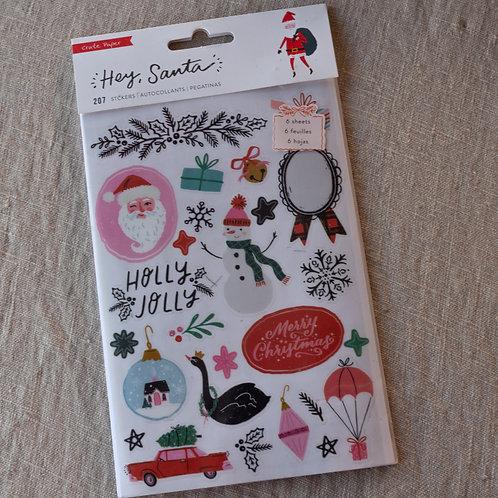 Hey Santa Sticker Book
