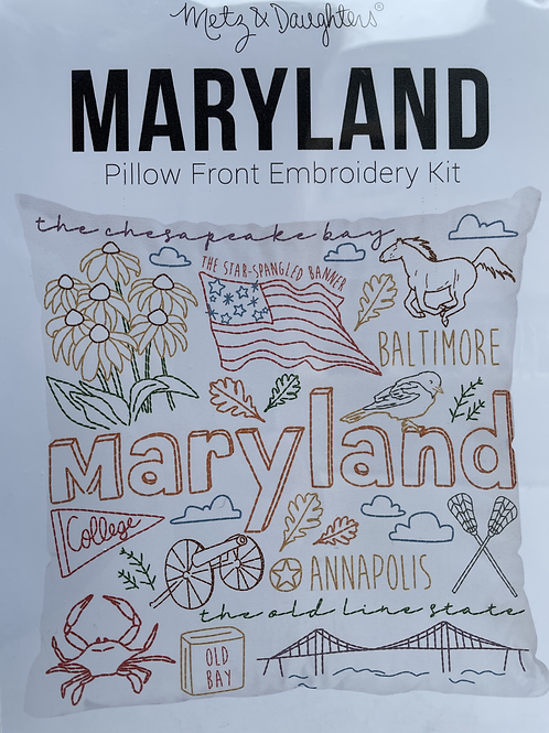 Maryland Pillow Front Embroidery Kit