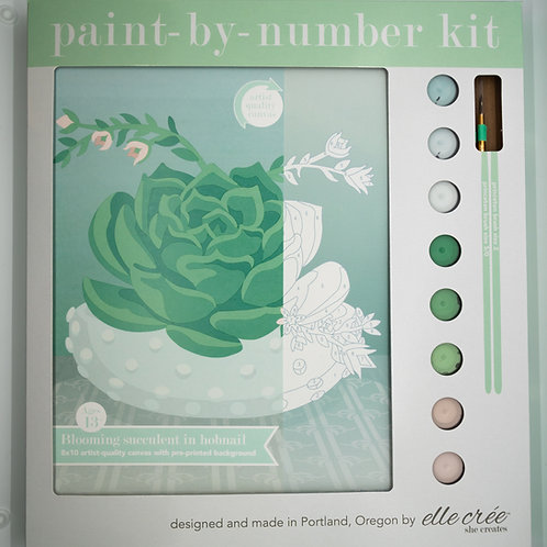 Blooming Succulent Paint by Number