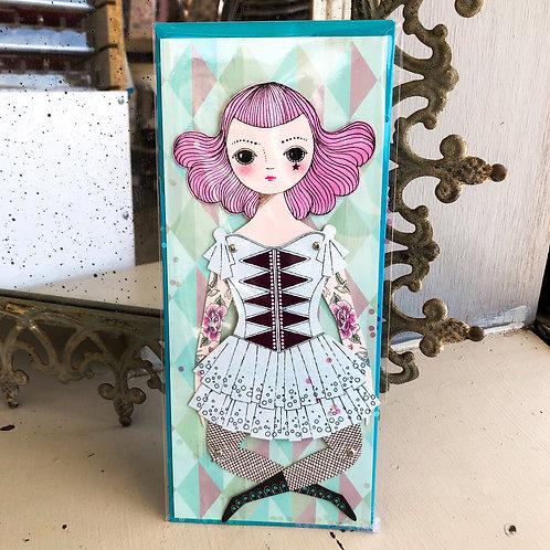 Amelia Paper Doll Card