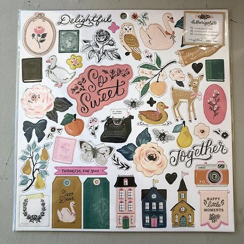 Marigold Chipboard Stickers
