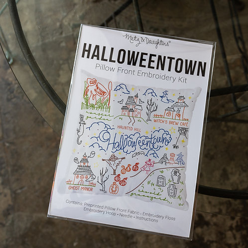 HalloweenTown Pillow Front Embroidery Kit