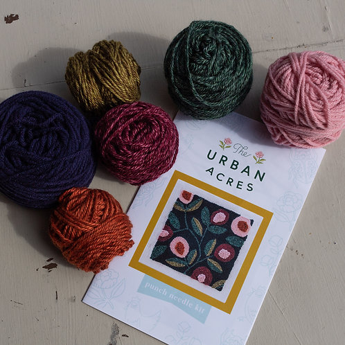 Urban Acres Fall Floral Punch Needle Kit