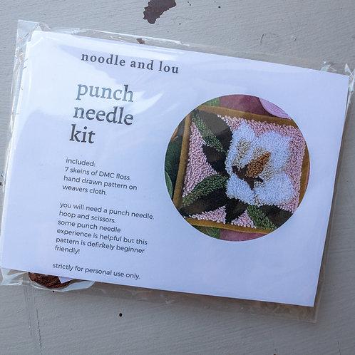 Noodle &  Lou Magnolia Punch Needle Kit