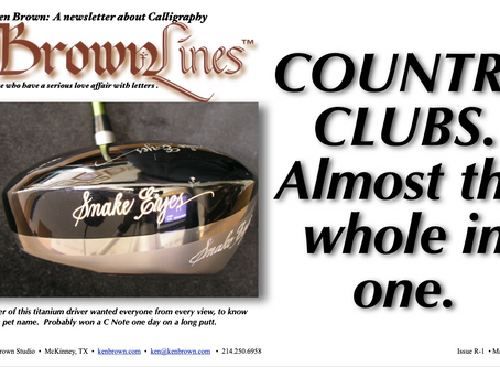 IF YOU'RE ENGRAVING AND NOT WORKING THE COUNTRY CLUBS, YOU'RE MISSING ENGRAVING'S EASIES