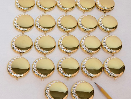 KEN BROWN ENGRAVED 22 ESTEE LAUDER COMPACTS FOR A VERY SPECIAL GROUP OF 22 LADIES.