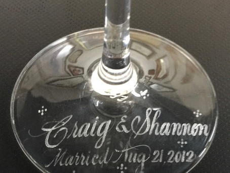 LEARN TO HAND-ENGRAVE YOUR CALLIGRAPHY ON THE BASE OF WINE GLASSES.  EARN A NICE FEE.