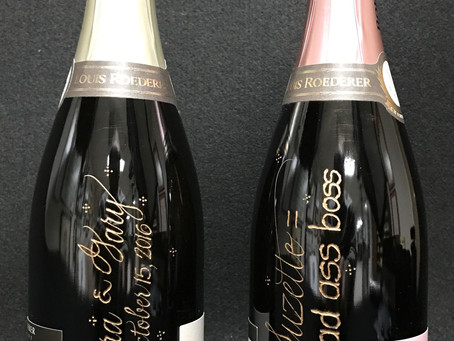 A FUN-LOVING BOSS & A NEW MARRIED COUPLE GET COOL CHAMPAGNE BOTTLES!