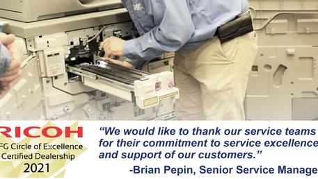 Congratulations, Service Team!