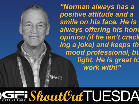 #GFIShoutOutTuesday - Norman Hamler