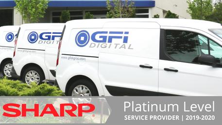 Sharp Names GFI Digital a Platinum Level Service Provider for 2019-2020