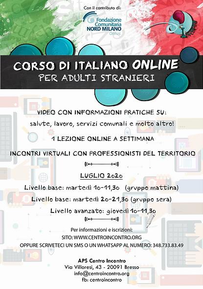 Volantino Corso Italiano Online - LUGLIO