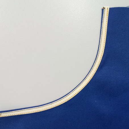 Sewing Tutorial: Apply Bias Facing to Curved Edge