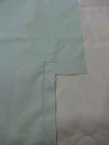 Cut left vent lining