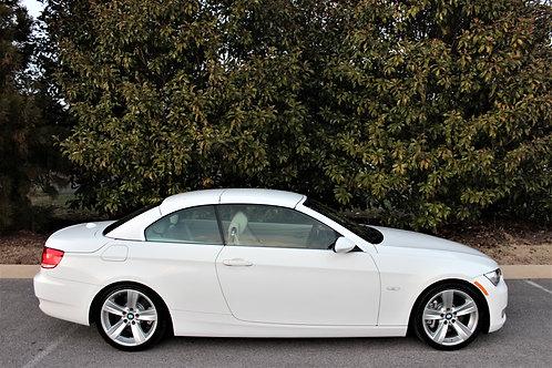 2007 BMW 335i Convertible-White-Navigation-Sport