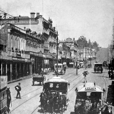1890 View up Queen St from Victoria St