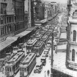 1925 ca Tram Jam in Queen St