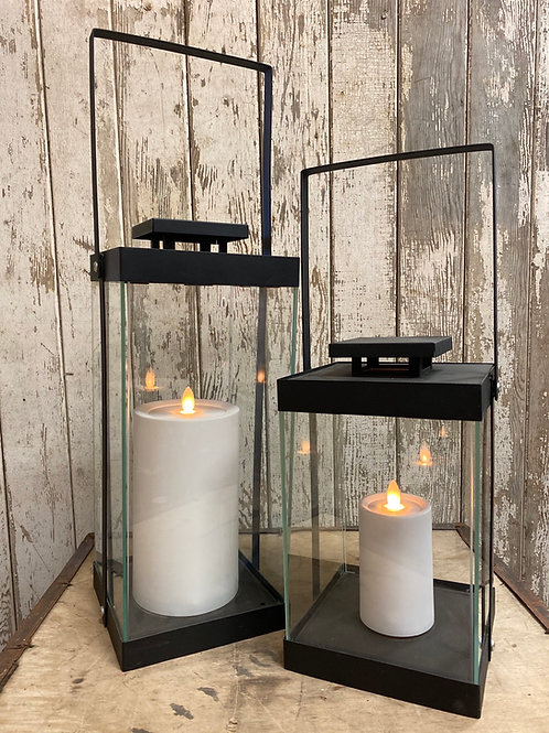 Modern Lantern with Candle - Assorted