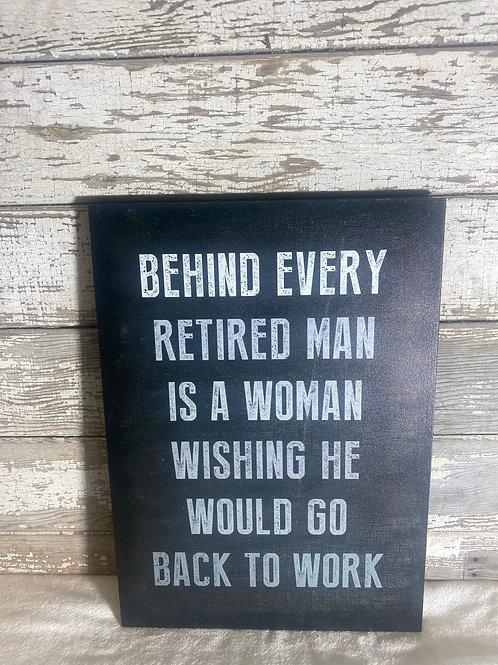 Retired Man Plaque