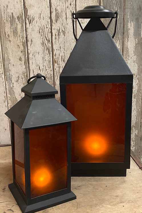LED Flame Effect Lantern - Assorted
