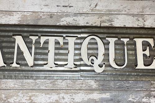 Antiques Metal Sign