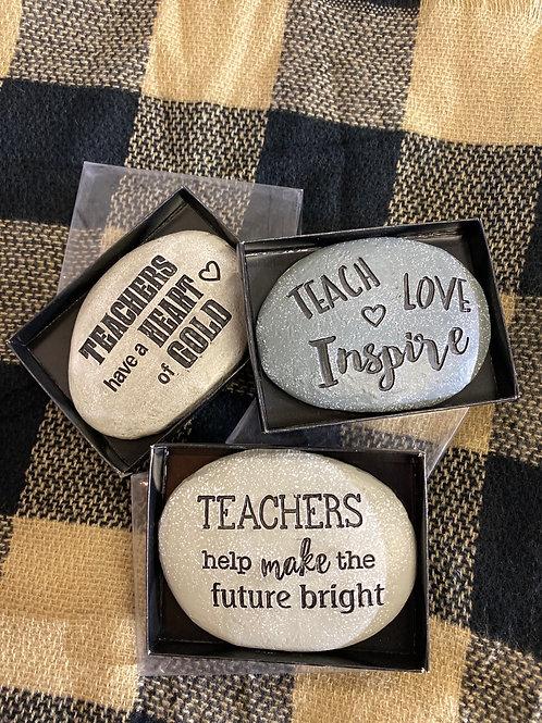 Inspirational Teacher Gift Rock - Assorted